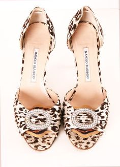 Manolo Blanik cheetah pumps with bling!
