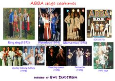 ABBA stage costume in 70s