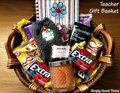 Give Extra Gift Basket for teachers #ExtraGumMoments #shop