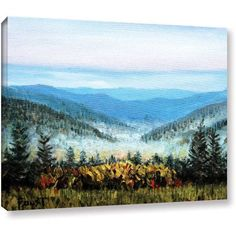 ArtWall Gene Foust Hidden Valley Gallery-Wrapped Canvas Art, Size: 24 x 32, White