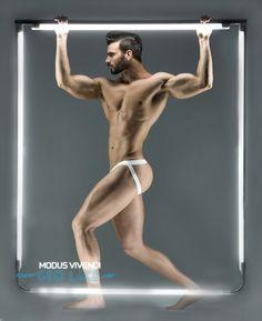 Alexandros Kaltsidis by Panos Misailidis in Modus Vivendi Geo Lace underwear Men's Fashion Brands, Fashion Models, Greek Fashion, Underwear Brands, Male Underwear, Athletic Supporter, Swimwear Brands, Male Form, Male Models