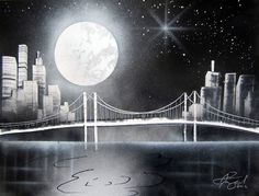 """Spacepaintings.com Presents Spray Paint Art Black And White """"Paintings For Practice"""" Instructional DVD Follow along with artist Brandon McConnell as he shows you how to create four amazing paintings o"""