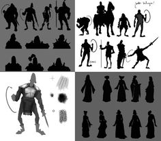King Arthur - Thumbnail sketches by worksofheart on DeviantArt Character Design References, 3d Character, Thumbnail Sketches, Drawing Sketches, Drawings, How To Make Drawing, Black Silhouette, Visual Development, Fantasy