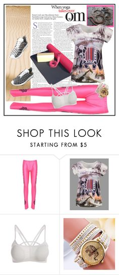 """""""Printed Scoop Neck T Shirt"""" by carola-corana ❤ liked on Polyvore"""