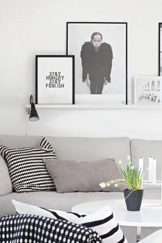Via Stylizimo | By Lassen Candle Holder | Ikea PS Pillow | Black & White, Scandinavian, Nordic