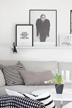 Via Stylizimo   By Lassen Candle Holder   Ikea PS Pillow   Black & White, Scandinavian, Nordic