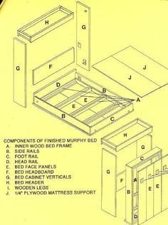 """Learn more details on """"murphy bed diy"""". Have a look at our internet site. Build A Murphy Bed, Murphy Bed Ikea, Murphy Bed Plans, Do It Yourself Furniture, Diy Furniture, Furniture Plans, Compact Furniture, Camas Murphy, Space Saving Beds"""