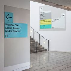 London College of Communication's new way finding system | Designed by Pentagram