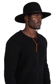 8feb5aa23a3 Brixton Tiller Wide Brim Hat in Black