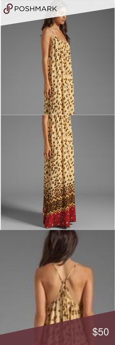 Mink Pink Wild Thing Maxi Go wild in this effortless maxi! Size is Small but will for S-XL, adjustable straps,  loose fit. Beautiful ombre animal print ending in red. This is your go-to summer dress! MINKPINK Dresses Maxi