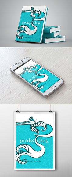 Moby-dick - Book Cover on Behance