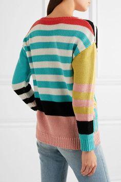 Boutique Moschino - Intarsia Cotton Sweater - Yellow - IT
