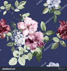stock-photo-vintage-flowers-and-blue-background-664007098.jpg (1500×1600)