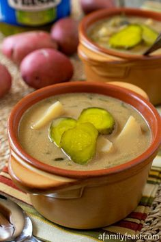 Authentic Polish Dill Pickle Soup - A Family Feast, ,
