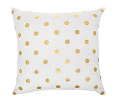 Image result for gold and white cushions