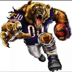 Put your passion on display with a giant Chicago Bears: Bruiser Bear - Giant Officially Licensed NFL Removable Wall Decal Fathead wall decal! Chicago Bears Tattoo, Nfl Chicago Bears, Chicago Blackhawks, Bears Football, Football Team, Football Pics, Panthers Football, Browns Football, Football Outfits
