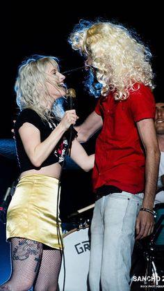 Hayley with a fan singing Miz Biz in Argentina