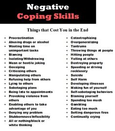 Negative coping skills by Blake Flannery. Negative ways to show anger. Let's all make sure we are crossing all of these off the list! Turn them into positive coping skills. Counseling Activities, Therapy Activities, Therapy Tools, Art Therapy, Therapy Ideas, Mental Health Counseling, Under Your Spell, Coaching, Thoughts