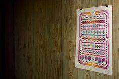 Lego letterpress: A sortof fair isle design. #geometric
