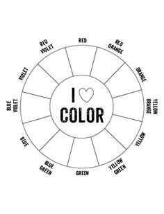 Printable Color Wheel | Mr Printables -- sub plans