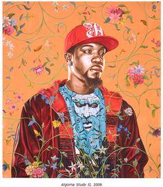 Kehinde Wiley Studio Algorna Study II, 2008 Oil on paper African American Artist, American Artists, Artwork Prints, Poster Prints, Kehinde Wiley, Dragon City, Gcse Art, Black Artists, Figurative Art