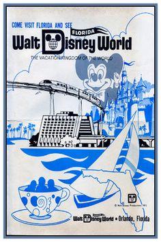 VINTAGE WALT DISNEY WORLD AD 12X18