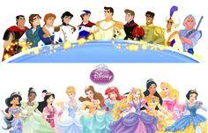 Disney Princes With Their Princesses by SilentPrincessBelle.deviantart.com on @deviantART