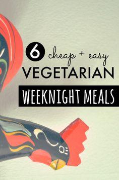 6 Quick + Easy Vegetarian Weeknight Dinners // neverhomemaker