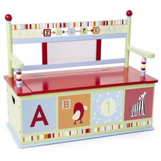 Have to have it. Levels of Discovery Alphabet Soup Toy Box Bench $199.95