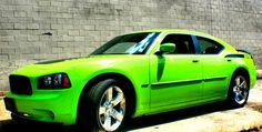 my future car.. Dodge charger, lime green.. totally loaded <3