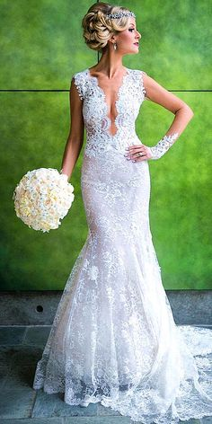 18 Real Brides In Ines Di Santo Wedding Dresses ❤ See more…