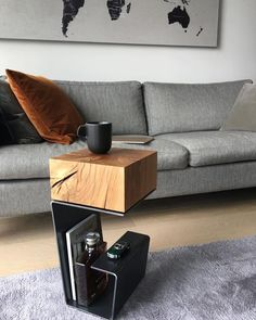 db - design bunker on More than just simple furniture. This is true art of functionality. Side Table by bakerstreetboys_london them to see Simple Furniture, Steel Furniture, Home Decor Furniture, Furniture Design, Furniture Dolly, Furniture Outlet, Retro Furniture, Discount Furniture, Luxury Furniture
