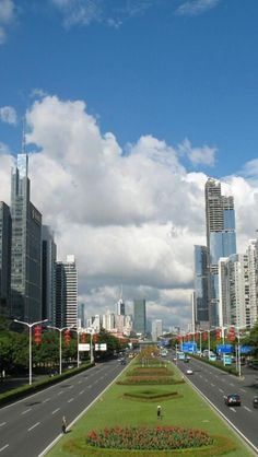 Shenzhen, Guangdong Province, China, Asian, Center, Business District