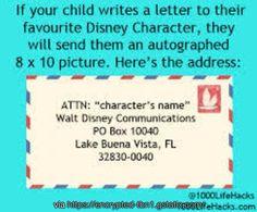 How to get a #Disney character to write back to your child Creative Inspiration, Life Hacks, Lifehacks, Useful Life Hacks
