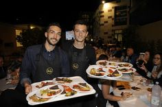 (L-R) Players of SS Lazio Danilo Cataldi and Franjo Prce attend a Charity Event on September 28, 2016 in Rome, Italy.
