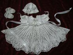TRICO y CROCHET-madona-mía: Vestido de  bautizo para niñas a Crochet (ganchill...