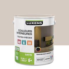 Peinture multisupports Couleurs intérieures satin LUXENS, gris doré n°6, 2.5 L