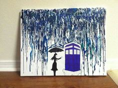 Doctor Who Crayon Art - Check out this item in my Etsy shop https://www.etsy.com/listing/214749722/doctor-who-melted-crayon-art-16x20