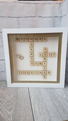 Personalised Scrabble Box Frame - Colour Scheme Can Be Changed - Any Occasion by NEVERGROWUPUK on Etsy Personalised Box, Personalized Gifts, Never Grow Up, Box Frames, Scrabble, Uk Shop, Color Schemes, My Etsy Shop, Colour