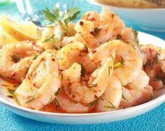 Crevettes minceur poêlées à l'ail et au citron