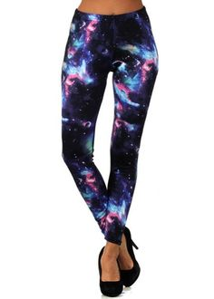 Galaxy Leggings, Cosmos Outer Space Leggings