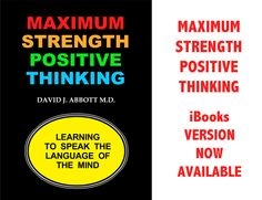 Maximum Strength Positive Thinking now available in iBookstore. #PositiveSelfTalk #PTSD #WoundedWarrior #Depression #PositiveThinking