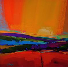 Bold and bright abstract landscape
