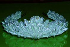 white kanzashi tiara