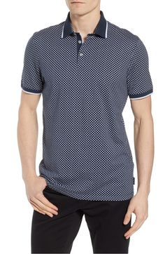 52d79be8347703 Free shipping and returns on Ted Baker London Pickal Trim Fit Print Polo at  Nordstrom.