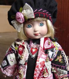 Crazy quilt jacket for Ann Estelle doll