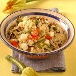 Ricetta Insalata di riso con feta, zucchine e melanzane | Donna Moderna