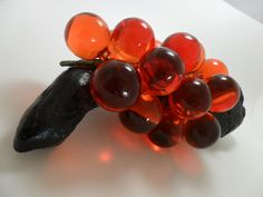 Vintage Lucite Grapes Orange on Driftwood 1960s by KathiJanes, $24.95