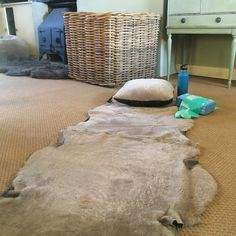 Yoga or pilates is naturally comfortable on trimmed British Sheepskin.