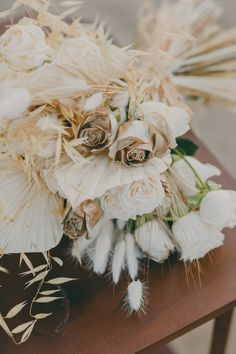 Make a statement with an elegant pure white wedding bouquet with touches of luxurious gold and seductive champagne and walk down the aisle with grace and charm. Gold Sand, White Wedding Bouquets, Walking Down The Aisle, Pure White, Earth Tones, Champagne, Pure Products, Table Decorations, Elegant